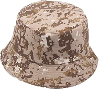 Pinleg Fashion Trend Colorful Camouflage Hat Outdoor Travel Bonnet Summer UV Protection Mountain Climbing Cap Outdoor Hunting Hat (Beige)