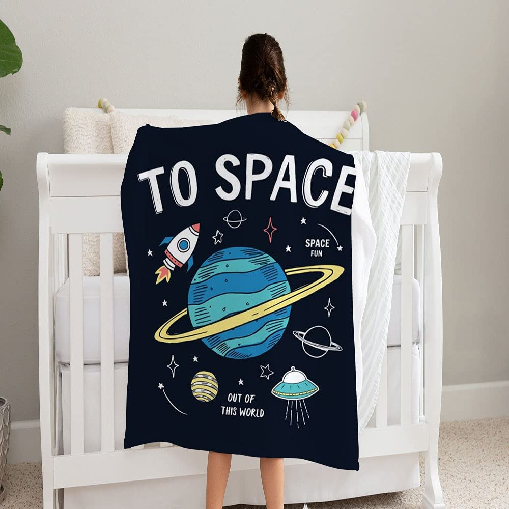 LPVLUX Space Slogan Gifts Graphic Blanket Max 86% OFF Super Fleece and Cozy Soft