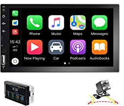 EKAT Double Din Car Stereo Support Mirror Link D-Play for...