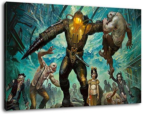 Bioshock Format 120x80 cm Bild auf Leinwand, XXL riesige Bilder fertig gerahmt mit Keilrahmen, Kunstdruck auf Wandbild mit Rahmen