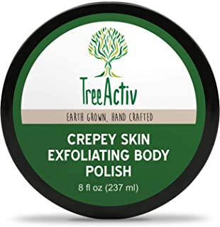 TreeActiv Crepey Skin Exfoliating Body Polish 8 fl oz Buffs Off Dead Skin Cells & Other Impurities Restores Firm & Glowing...
