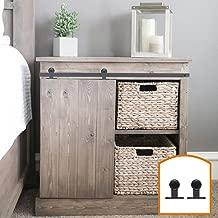 ZEKOO 2.5-8FT Super Mini Sliding Barn Door Hardware Kit Top Mounting Black Roller Rails for Closet TV Stand Furniture Storage Cabinet System (2.5FT, Single Door Kit)