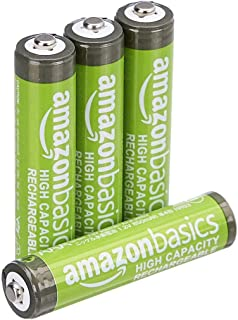 AmazonBasics AAA High-Capacity Rechargeable Batteries (4-Pack) Pre-charged, Packaging May Vary