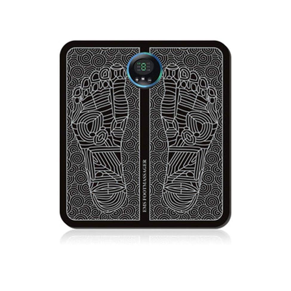 ネイティブイチゴ透けて見えるEMSの足のマッサージャー、折る携帯用電気マット、血循環の筋肉苦痛救助を促進する電子筋肉刺激物USB充満,A