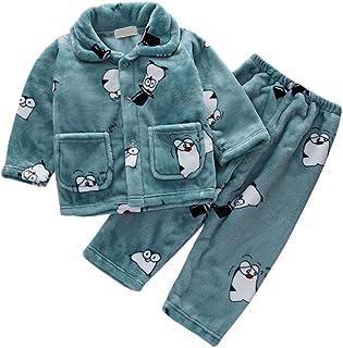 DEBAIJIA Bambino Abbigliamento Casa 0-12T Bambini Biancheria da Notte Infante Pigiama Unisex Indumenti Notte Sleepwear Fla...