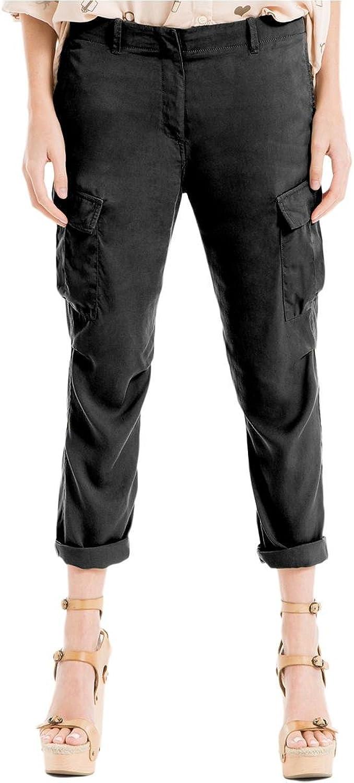 MAX STUDIO  98 Womens 1340 Black Short Length Casual Pants 10 B+B