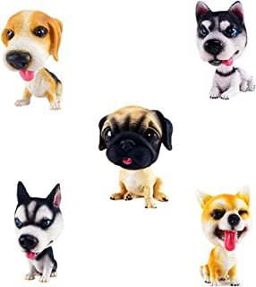 Comidox Handmade Childhood Memory BobbleHead Dogs Car Dash Puppy for Car Vehicle Decoration Rocking Head Dog Made by Super...