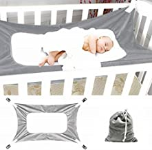 Autbye Baby Hammock for Crib Safe Comfy Bed for Newborn, Mimics Womb Bassinet Hammock With Three Layer Breathable Mesh Helping Infant's Sleep Better(Grey)