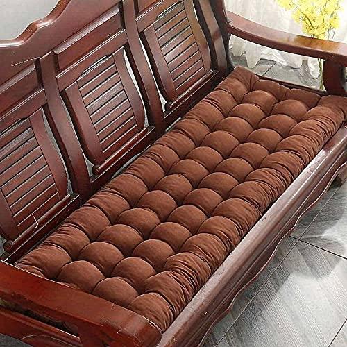 Cojín extra largo para banco de jardín de 2 plazas para muebles de patio o banco de comedor para uso en interiores y exteriores, almohadilla de asiento mecedora muy cómoda y duradera