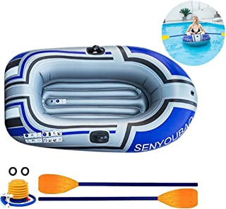 Yunhigh Inflatable Boat,2 Person,Thickened Tear-Resistant Foldable Inflatable Kayak with Pump and Oars
