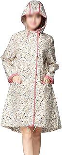 WZHZJ Outdoor Fashion Ladies Flower Girl Raincoat Travel Waterproof Raincoat Coat Rain Jacket