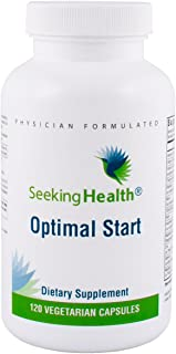 Seeking Health | Optimal Start | Daily Multivitamin Without B12, Iron, Calcium or Folate | Adaptogenic Herbs