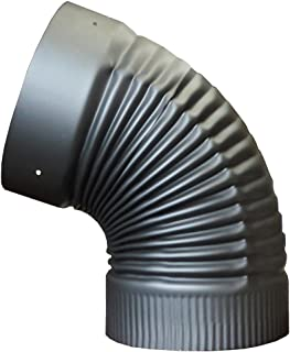 6in. x 45 Degree Fixed Elbow for Single Wall Stove Pipe