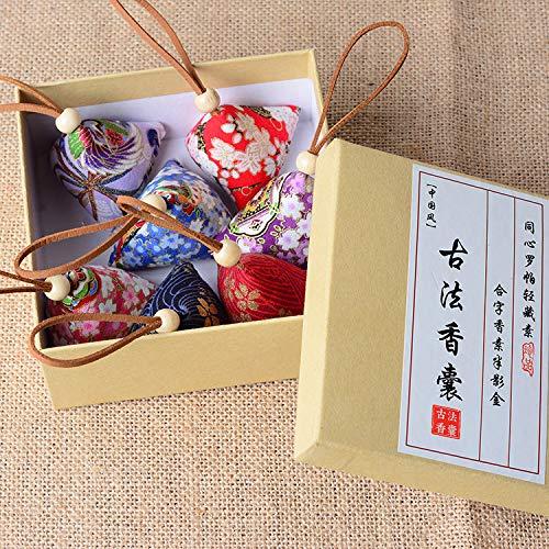 XKMY Bolsa de aromaterapia 10 bolsas de estilo antiguo chino de Dragon Boat Festival Mini bolsa de bolas de masa de arroz, ajenjo repelente de mosquitos bolsas antiguas (color: juego de 8 unidades)