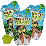 7th Heaven Green Tea Peel-Off Mask, Revitalizing and Purifying Easy Peel Mask with Green Tea Extract, Assist with Uplifting and Re-energizing your skin, Revitalize Skin, 3-Pack of 0.3 fl oz Sachets