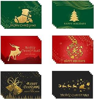Kerstkaarten, Merry Christmas Stickers, Kerstkaarten Met Envelop Set, Merry Christmas Card, Notitiekaarten Met Envelop, Ke...