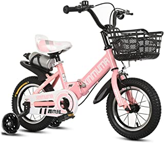 Kids' Bikes Children's Bicycle 2-12 Years Old Folding Shock Absorber Baby Bicycle with Flash Training Wheel and Kettle 12/14/16/18 inch Double Brake Bicycle