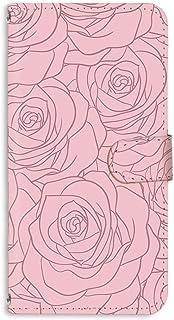 手帳型 ミラータイプ スマホケース LG V20 PRO L-01J 用 [型押し風・ピンクのバラ] 花柄 ローズ エルジー ブイトゥエンティ プロ docomo スタンド スマホカバー 携帯カバー bara 00r_170@03m