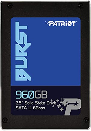 "Patriot PBU960GS25SSDR Memory Burst SSD 960GB SATA III Internal Solid State Drive 2.5"" -"