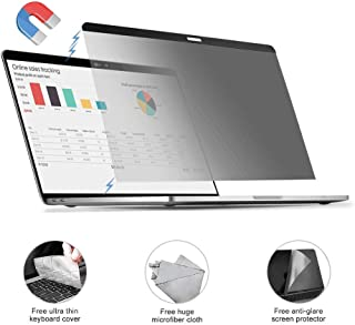MacBook pro 13.3 Privacy Screen Protector Filter Anti-Spy Filter【Removable Magnetic Installation】【 Anti-Glare Screen Protector 】【TPU Keyboard Cover】 for 2018 MacBook Air 13.3, MacBook Pro 13.3