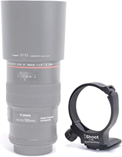 iShoot CNC Machined Diameter 68mm Tripod Mount Ring Lens Collar for Canon EF 100mm f/2.8L Macro IS USM Lens, Built-in 55mm...