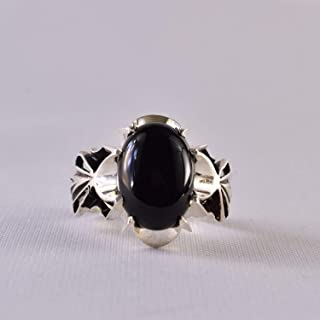 Black Aqeeq onyx aqeeq stone ring for men and women | Hirz Jawad | Yemeni Aqeeq Ring Size 9.5