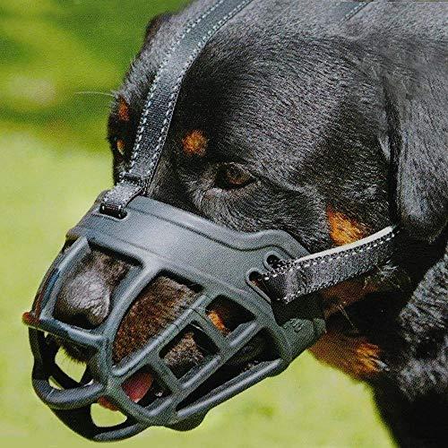 Silikon-Korb Hund Maulkörbe, Ermöglicht Trinken, Keuchen und Essen for Schnauzer Border Collie Golden Retriever Rottweiler YAWJ (Color : Black, Size : 4)