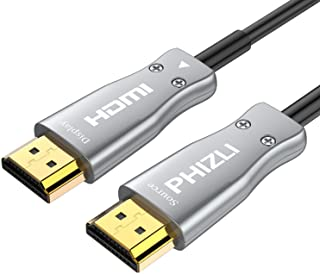 Fiber HDMI Cable 4K 30ft HDR 60Hz,Phizli Fiber Optic HDMI Support 2.0b Premium High-Speed Slim and Flexible 18Gbps 3D 4:4:4/4:2:2/4:2:0 Suitable for Apple TV, HDTV, Roku TV Box, Playstation 4 PS3,Xbox
