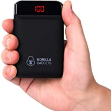 Gorilla Gadgets Mini Portable Charger, One of The Smallest and Lightest 10000mAh External Battery, Ultra-Compact High-Speed-Charging-Technology, 2-Port Power Bank for iPhone, Samsung Galaxy etc (BLK)