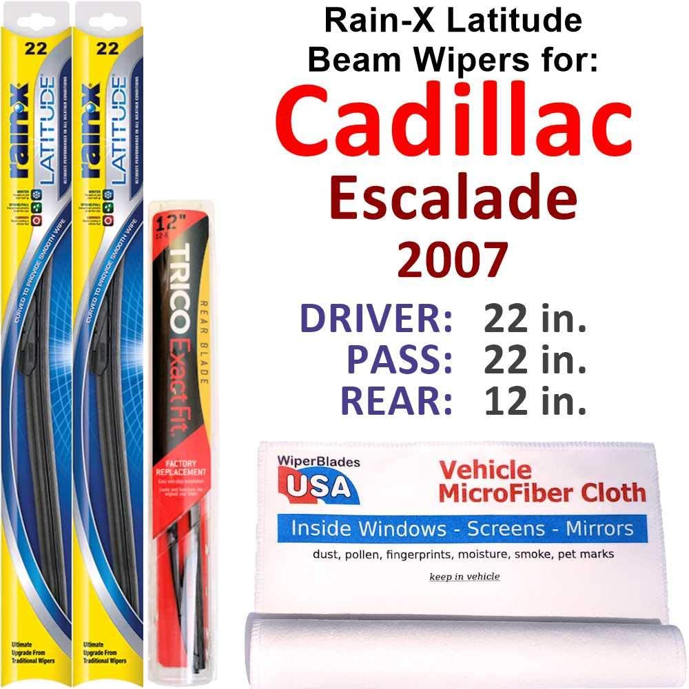 Rain-X Latitude Beam Free Online limited product shipping Wipers for 2007 Cadillac Rea w Escalade Set