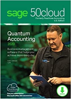 Sage 50cloud Quantum Accounting 2020 U.S. 5-User One Year Subscription [PC Download]