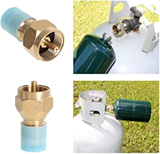 Outdoor Camping Hiking Stove Adaptor Propane Refill Adapter for One Pound Tank Small Lp Gas Furnace Connector Cylinder Tank Coupler Heater Hunting BBQ
