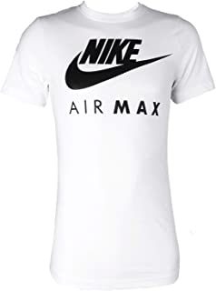 Nike Air Max Tee Men's Sport Slim Fit Fitness Cotton Shirt T-Shirt White/Black