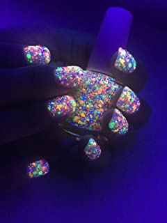 FUNFETTI: Custom-Blended UV Blacklight Reactive NEON Glitter Nail Polish / Lacquer/ Indie Polish