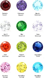 96Pcs 5mm Crystal Birthstones for Floating Charms Living Memory Lockets DIY Pendant Necklace
