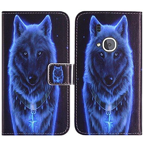TienJueShi Wolf Flip Book-Style Brief Leder Tasche Schutz Hulle Handy Hülle Abdeckung Fall Wallet TPU Silikon Cover Etui Skin Fur Nokia 3310 3G 2.4 inch 2017