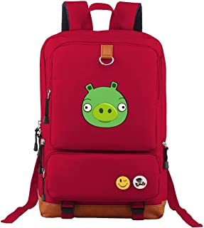 Lightweight Laptop Angry Birds Toons Backpack Leisure Trip Classic Oxford Shoulder Bags For School Office Hiking Navy