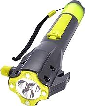 Emergency LED Flashlight, SOS Strobe, Windshield Hammer Window Breaker, Seatbelt Cutter,Weatherproof,Rechargeable Hand Cra...