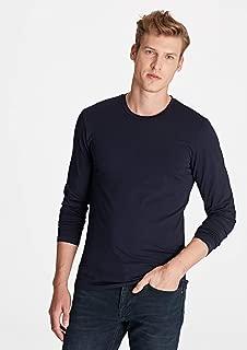 Uzun Kollu Lacivert Basic Tişört