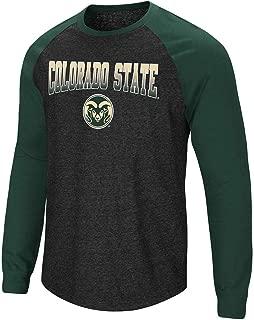 Mens Colorado State Rams Long Sleeve Raglan Tee Shirt