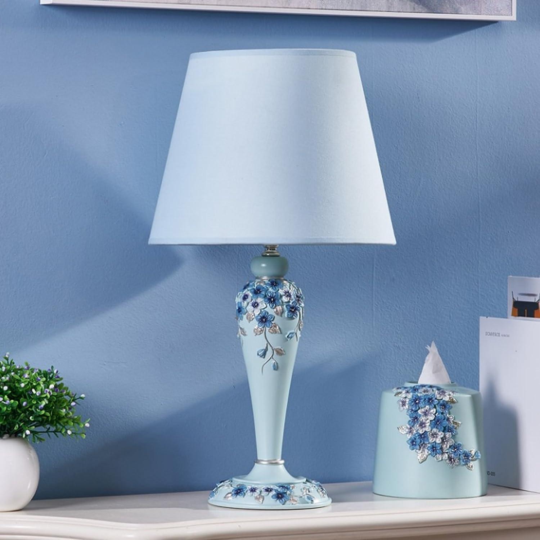 DGF Kreative Europische Tischlampe Mode Warm Schlafzimmer Lampe Dimmen Nachttisch Lampe FGD (gre   B)