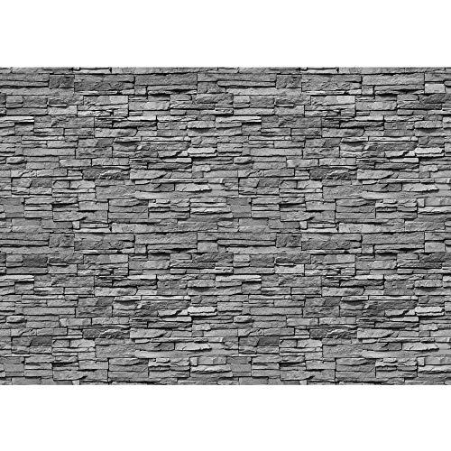 Vlies Fototapete 400x280 cm PREMIUM PLUS Wand Foto Tapete Wand Bild Vliestapete - ASIAN STONE WALL No. 2 - ANTHRAZIT - Steintapete Wandbild Steinwand Steintapete Asia Stone Asien - no. 138