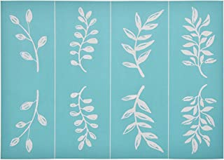 YeulionCraft Self-Adhesive Silk Screen Printing Stencil Mesh Transfers Plant Pattern Series for Decoration DIY T-Shirt Pillow Fabric Painting, Leaf