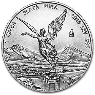 2019 MX Mexico Libertad - 1 oz pure Silver Coin - 1 OZ Brilliant Uncirculated CA