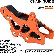 YSMOTO Guía de protección de Cadena CNC de Aluminio Protector para SX85 Freeride 350 KTM 125-530 125 250 300 450 530 Todos los Modelos EXC SX SXF SMC Enduro Husqvarna TC85 FC TC FE TE FS Dirt Bike