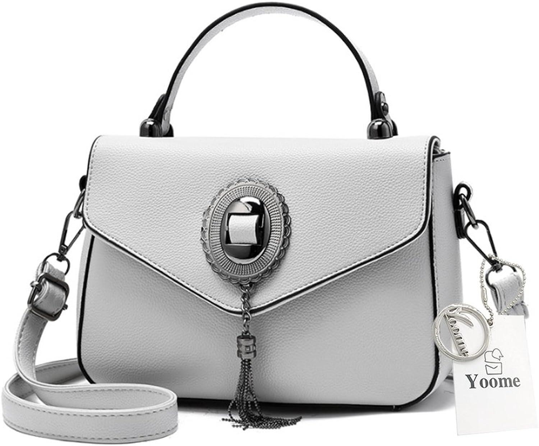Yoome Tassel Taschen Geldbörsen Top-Handle Handtaschen Elegant Taschen Für Charm Stilvolle Taschen Für Frauen - Grau B075YFXF1W  Großer Verkauf