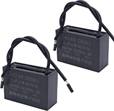 Taiss / CBB61 6uf Ceiling Fan Capacitor for New Tech 2 Wire 50/60Hz 450VAC (2 pack)