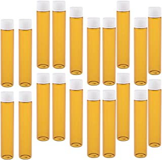 20pcs Mini Essential Oils Bottle Reuasble Essence Eye Cream Fragrance Glass Vials - Tawny White