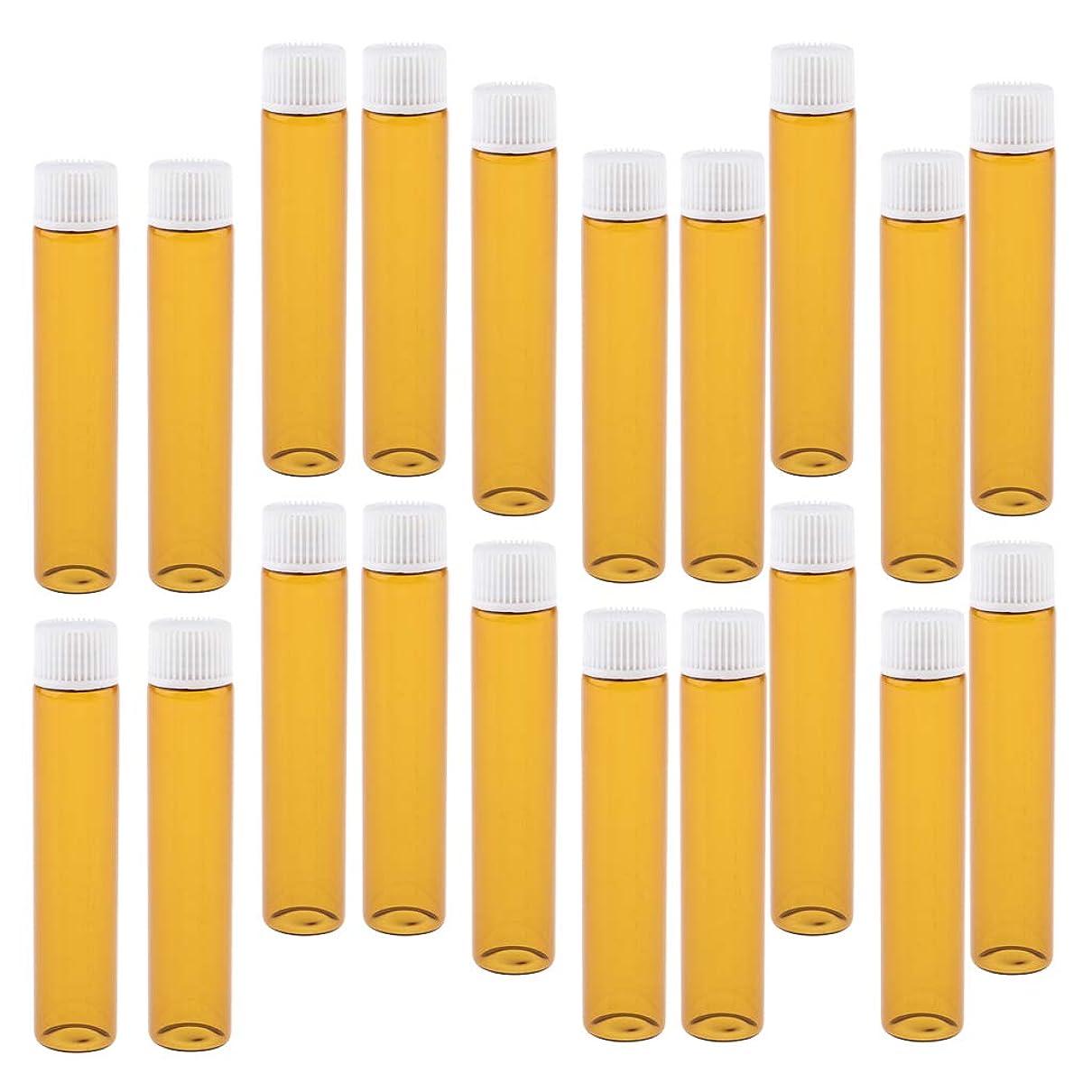 キャンプナインへ海洋のT TOOYFUL 20個 ガラスボトル 香水ボトル 詰替え容器 小分け容器 小分けボトル ポータブル 再利用可能全4色 - ホワイト