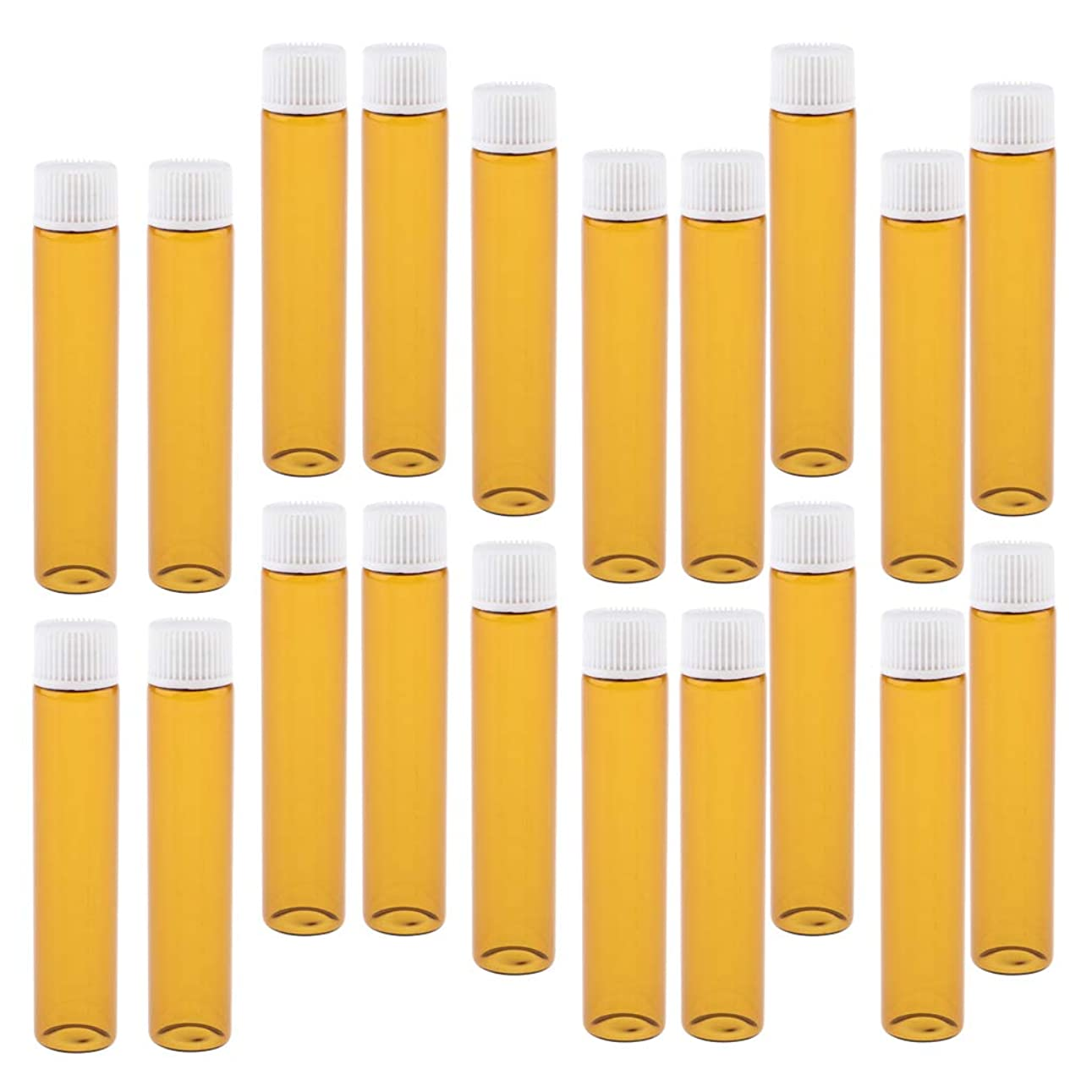 農場宇宙飛行士ラップSharplace 詰替え容器 香水ボトル ガラスボトル 小分け容器 小分けボトル ガラス製 20個 全4色 - ホワイト